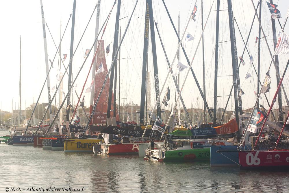 Vendée globe 2020 - le flottille au ponton